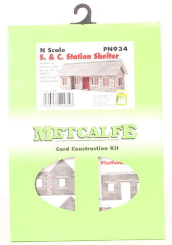 Settle and Carlisle style railway station shelter - card kit