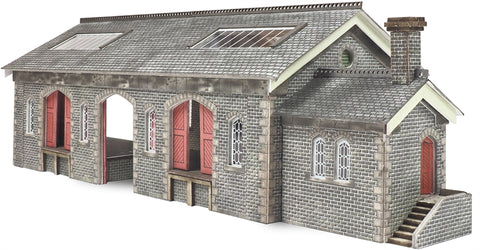 Settle and Carlisle style stone goods shed building - card kit