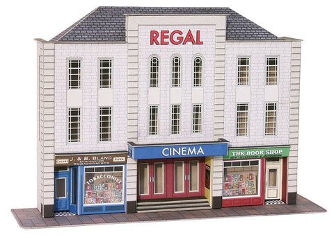Low-relief Cinema and shops - card kit