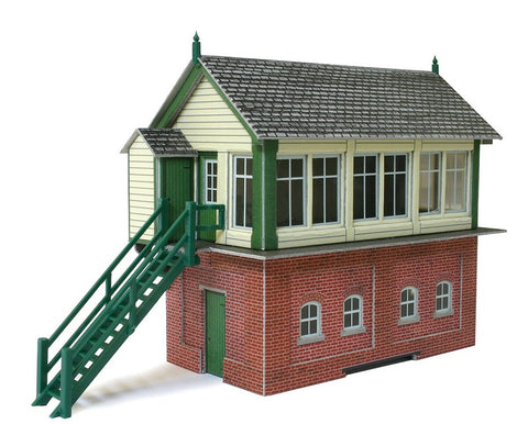 Signal box with lineside hut and fuel store - card kit