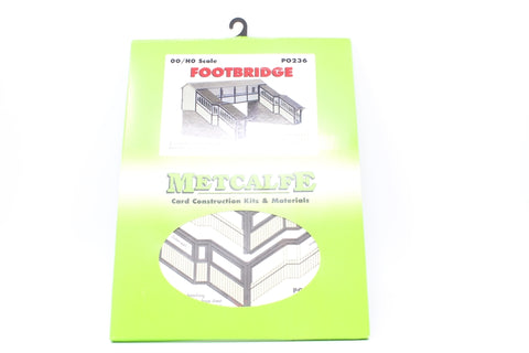 Double-track covered station footbridge - card kit - Pre-owned - Like new