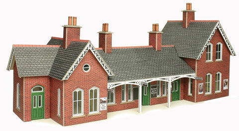 Country station and platform shelter - card kit