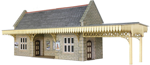 GWR-style wayside station shelter - card kit