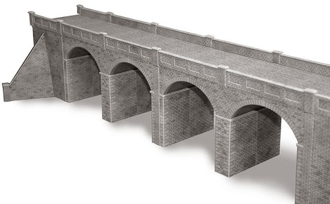 Double track viaduct - stone - card kit