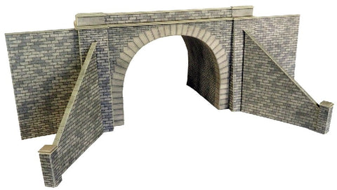 Pair of double track tunnel entrances - card kit