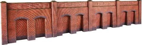 Retaining wall in red brick - 4 sections per pack - card kit
