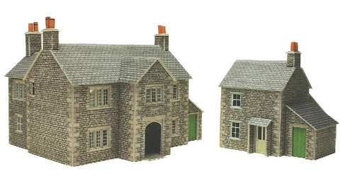 17th Century Manor farm house and workers cottage - card kit