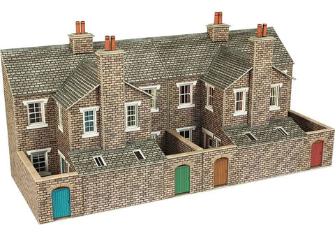 Low relief terrace house backs - stone - card kit