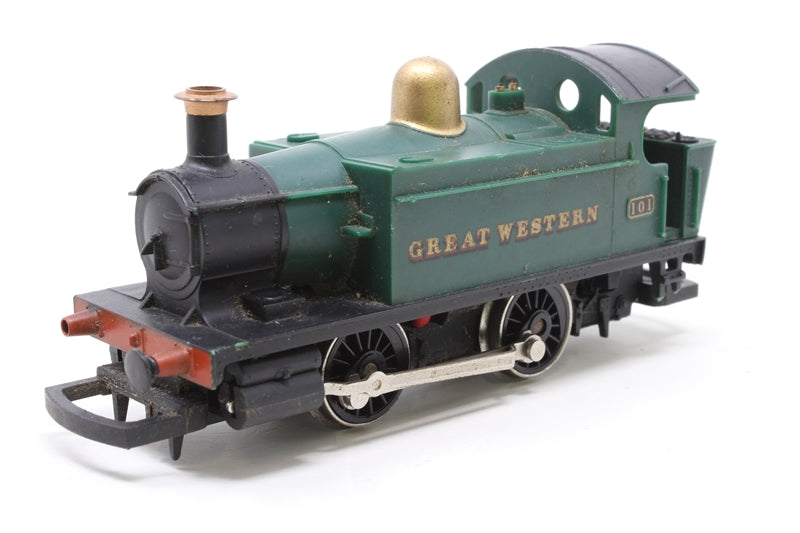 Class 101 Holden 0-4-0T 101 in GWR Green - Pre-owned - replacement box. missing 3 buffers, jerky runner, only runs forward, missing coupling hooks