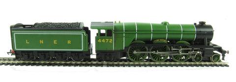 Flying Scotsman Train Set with 3 x LNER coaches (loco has 3-pole motor)