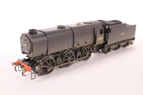 Class Q1 Bulleid Austerity 0-6-0 33006 in BR Black with late crest (weathered) - Pre-owned - Like new
