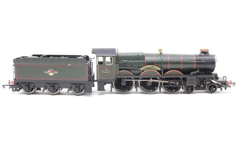 "Castle class 4-6-0 5033 ""Broughton Castle"" & tender in BR green - Pre-owned - renumbered"