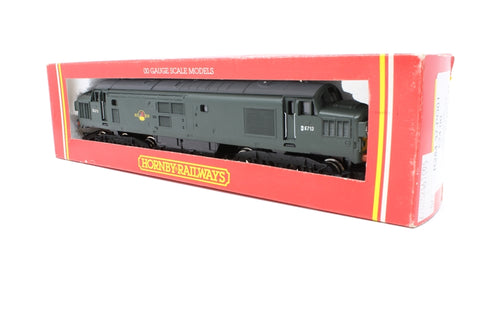 Class 37 D6713/D6721 in BR Green - Pre-owned - two different numbers applied - slighly worn decals - Poor box