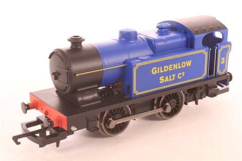 Class D 0-4-0T 3 in Gildenlow Salt Co lined Blue - Pre-owned - Like new, Sticker mark on box