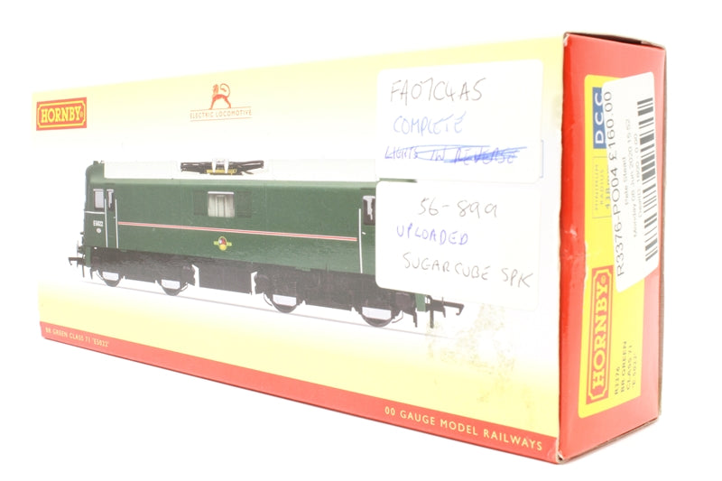 Class 71 E5022 in BR Green with no yellow ends - Pre-owned - DCC Sound Fitted - Pantograph stuck down permanently - missing buffers - imperfect box