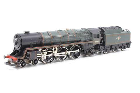Britannia Class 4-6-2 'Tennyson' 70032 in BR Green - Pre-owned - sold as seen - non-runner - one coupling loose in box - poor box