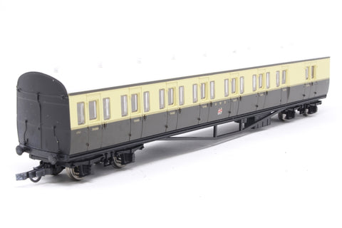 GWR Choc/Cream Suburban B Coach No.6763 - Pre-owned - original couplings replaced with close couplings (no NEM Sockets)