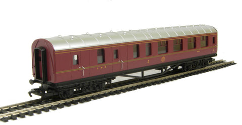 Stanier Period III brake third 5200 in LMS maroon - Railroad Range