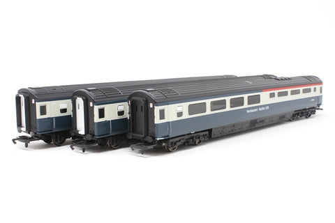 Pack of 3 Mk3 coaches in BR blue & grey - Pre-owned - Corner snapped off end of one of the coaches