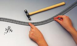 Single 970mm length of flexible track
