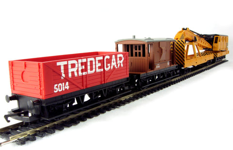 Breakdown Crane pack with 20-ton brake van and 8-plank open wagon - Railroad Range