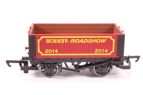 6-Plank Wagon - Hornby Roadshow 2014 - Pre-owned - Like new, Sticker mark on box