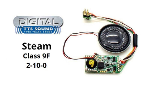 TTS DCC Sound Decoder with 8 pin plug - Class 9F 2-10-0 steam locomotive