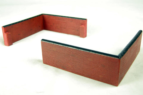 Pair of brick corner wall sections