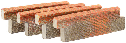 Brick walls - 55mm - pack of four