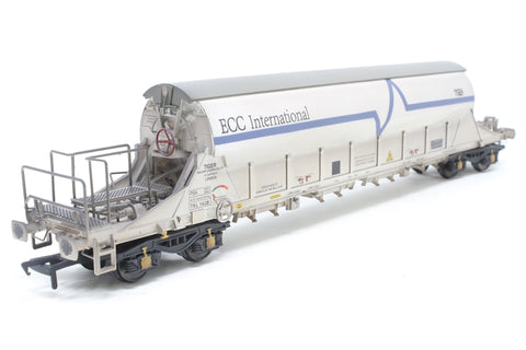 PGA Tiger Clay Wagon ECC International White TLR 11628 - Exclusive to Kernow Model Rail Centre
