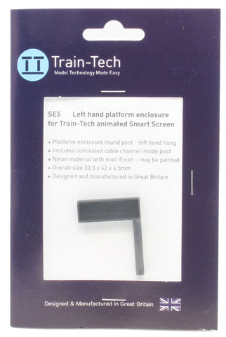 Smart Screen enclosure - mounted left hand round post