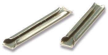 Metal rail joiners/fishplates (for code 100 rails inc Hornby, Peco & Peco Streamline). For OO, HO & O gauge - Pack of 24