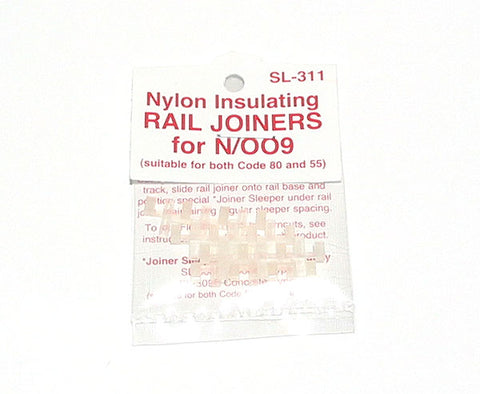 Insulated Rail Joiners/Fishplates for N & 009 gauge (12 per pack)