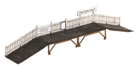 Wooden station halt - plastic kit