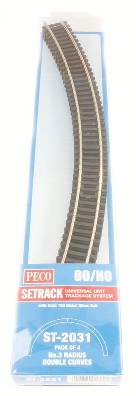 3rd radius Double Curve Track (ST-231 x 4)