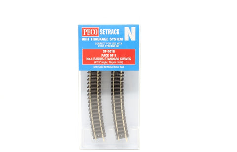 ST-18 fourth radius standard curve - pack of eight