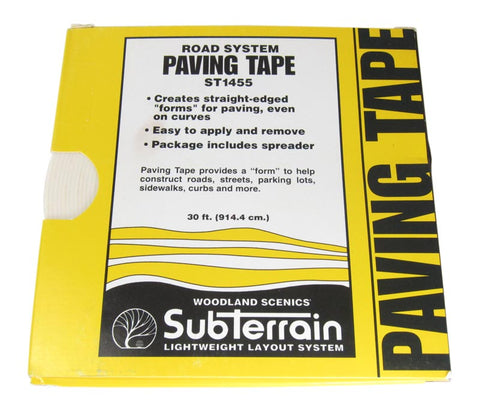 Paving Tape - For Making Streets, Roads, Sidewalks & Parking Lots. 0.75