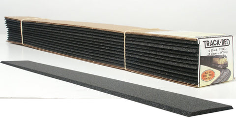 12 Single Track Strips of O Gauge Track Bed - 2.75