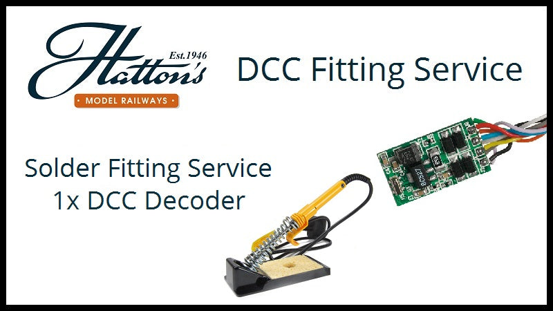 Solder 1 decoder into a single DCC compatible (not DCC Ready) item