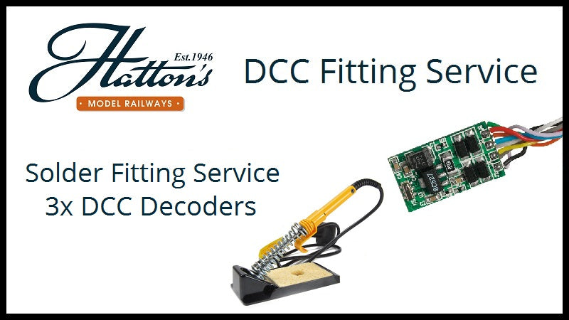 Solder 3 decoders into a single DCC compatible (not DCC Ready) item