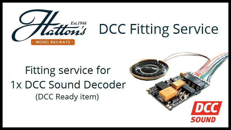 Fit a sound decoder to a single DCC ready OO gauge item