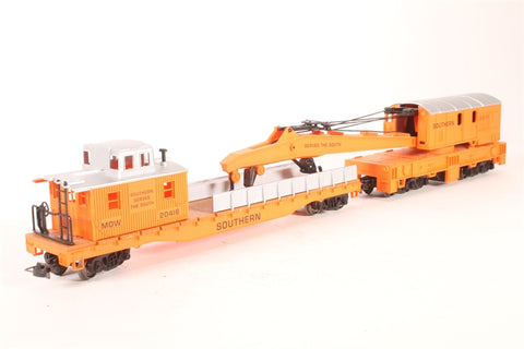 Crane Car & Boom Tender of the Southern Railroad - Pre-owned - Like new
