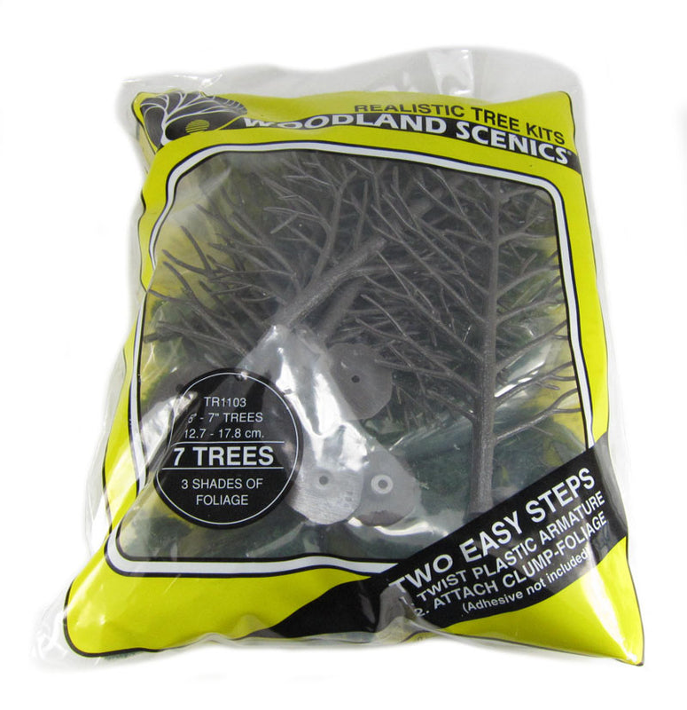 "5 - 7"" Mix Colour Deciduous - Realistic Tree Kit - Pack Of 7"