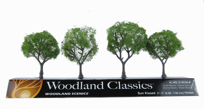 "2 - 3"" Sun Kissed (Medium) Trees - Pack Of 4"