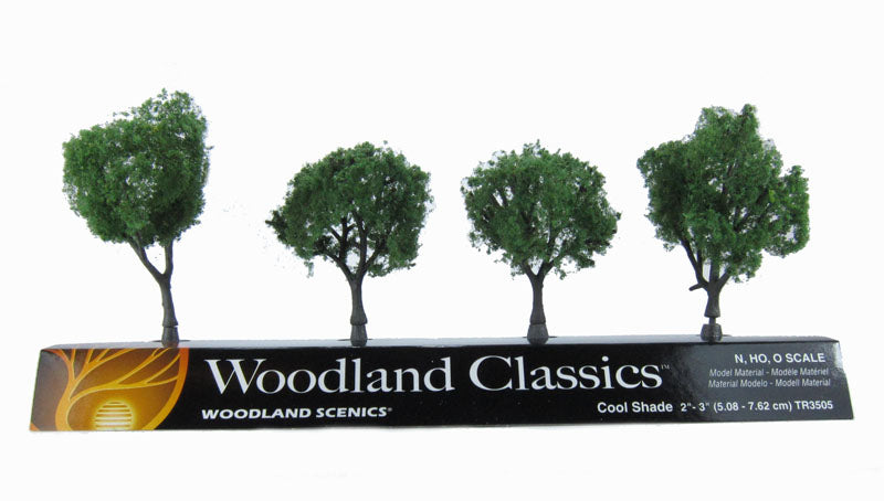 "2 - 3"" Cool Shade (Dark) Trees - Pack Of 4"