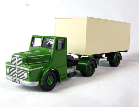Thorneycroft sturdy articulated van in green and cream
