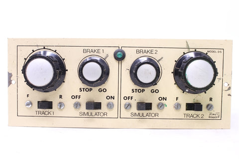 Twin Track Controller with Simulator. Panel Mounted - Pre-owned - sold as seen -  marks on controller- untested
