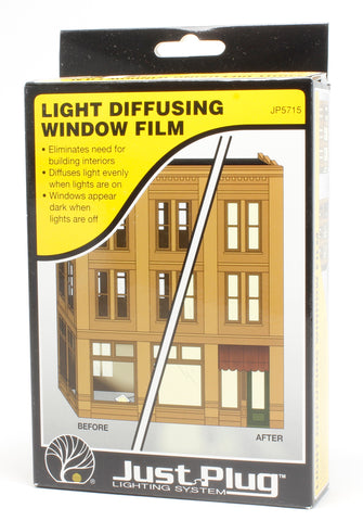 Light diffusing window film - Just Plug lighting system