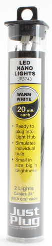 Warm white LED nano lights for Just Plug lighting system