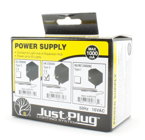 UK Power Supply for Just Plug lighting system